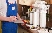 Установка и замена фильтра для воды